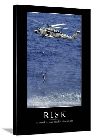 Risk: Inspirational Quote and Motivational Poster--Stretched Canvas Print