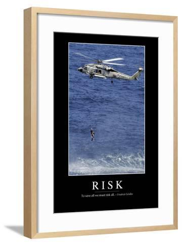 Risk: Inspirational Quote and Motivational Poster--Framed Art Print