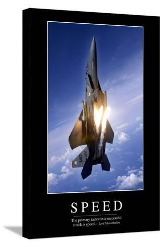 Speed: Inspirational Quote and Motivational Poster--Stretched Canvas Print