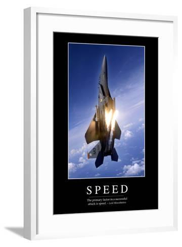 Speed: Inspirational Quote and Motivational Poster--Framed Art Print