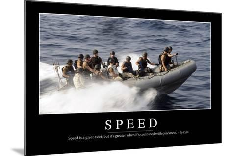 Speed: Inspirational Quote and Motivational Poster--Mounted Photographic Print