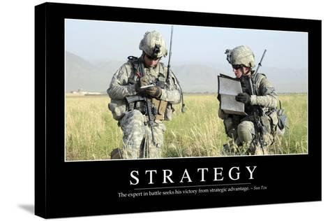 Strategy: Inspirational Quote and Motivational Poster--Stretched Canvas Print