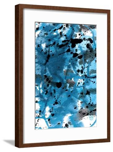 Blue Splatter-GI ArtLab-Framed Art Print