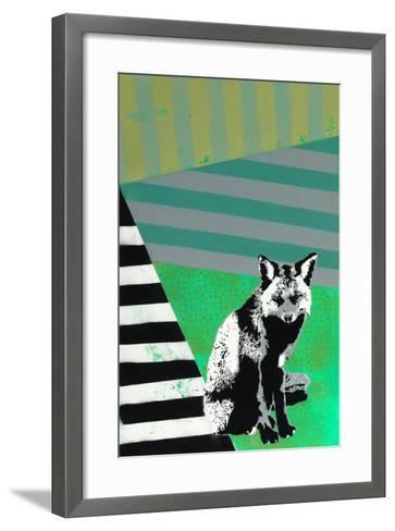 Black Fox-Urban Soule-Framed Art Print