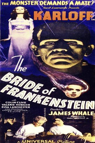 Bride of Frankenstein--Stretched Canvas Print