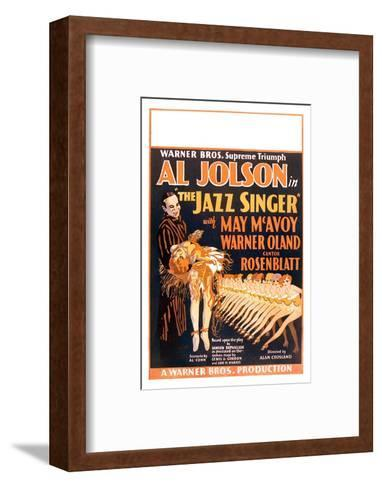 The Jazz Singer--Framed Art Print