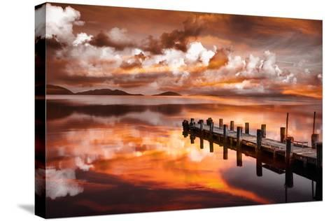 Sunset Pier-Marco Carmassi-Stretched Canvas Print
