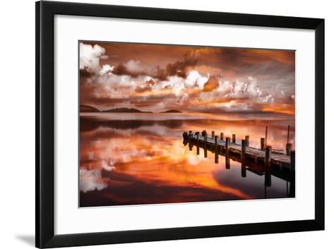 Sunset Pier-Marco Carmassi-Framed Art Print