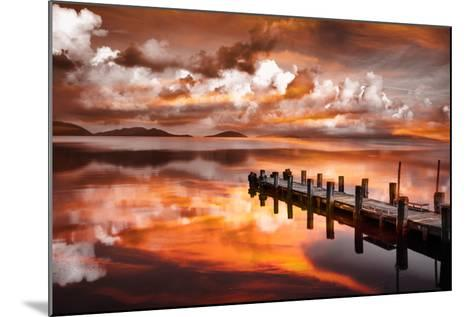Sunset Pier-Marco Carmassi-Mounted Photographic Print