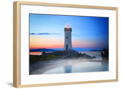 Palau Lighthouse-Marco Carmassi-Framed Art Print