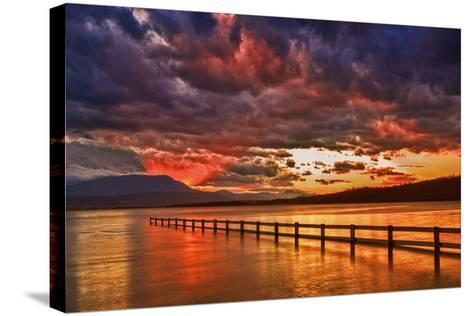 Mortimer Bay Sunset-Margaret Morgan-Stretched Canvas Print