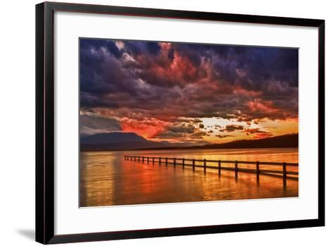 Mortimer Bay Sunset-Margaret Morgan-Framed Art Print