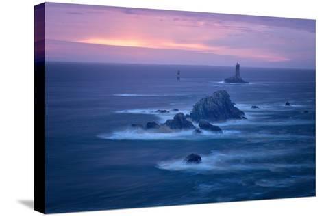 Lighthouse La Vieille, Bretagne, France-Philippe Manguin-Stretched Canvas Print