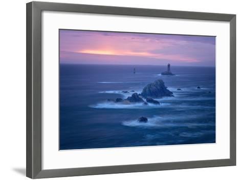 Lighthouse La Vieille, Bretagne, France-Philippe Manguin-Framed Art Print