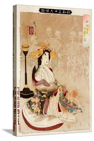 Jigoku Dayu - Courtesan from Hell, Thirty-Six Transformations-Yoshitoshi Tsukioka-Stretched Canvas Print