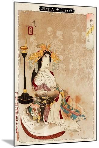 Jigoku Dayu - Courtesan from Hell, Thirty-Six Transformations-Yoshitoshi Tsukioka-Mounted Giclee Print