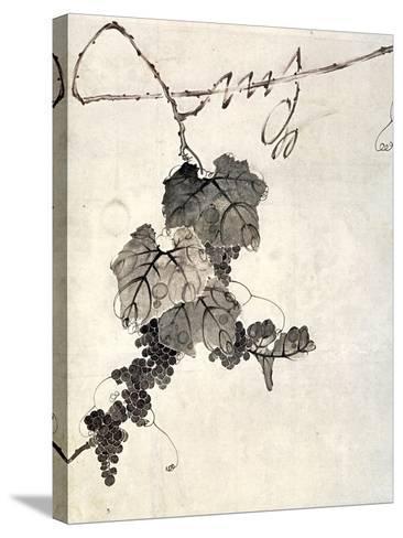 Bunch of Grapes-Jakuchu Ito-Stretched Canvas Print