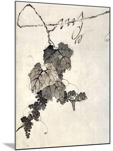 Bunch of Grapes-Jakuchu Ito-Mounted Giclee Print