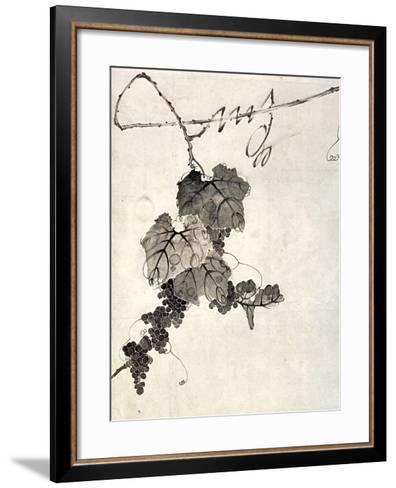 Bunch of Grapes-Jakuchu Ito-Framed Art Print