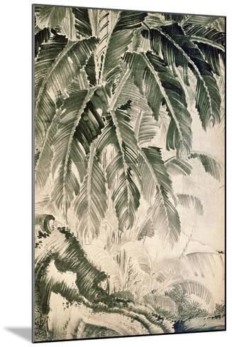 Palms Sumi on Paper-Jakuchu Ito-Mounted Giclee Print