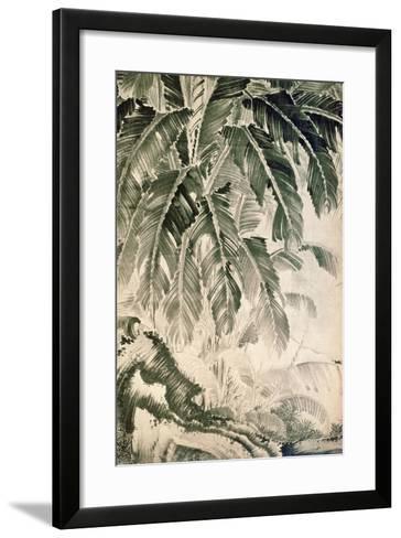 Palms Sumi on Paper-Jakuchu Ito-Framed Art Print
