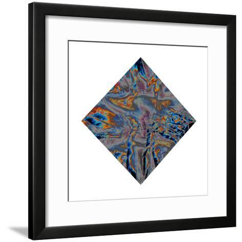 The Color of a River Is Dark Blue. Silver Discharged the Light of Various-Masaho Miyashima-Framed Art Print