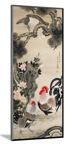 Rooster, Hen and a Falcon-Jakuchu Ito-Mounted Giclee Print