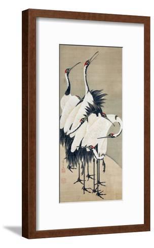 Seven Cranes-Jakuchu Ito-Framed Art Print
