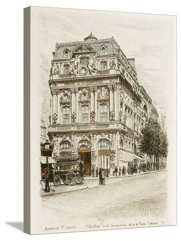 Boulevard Saint-Martin: Théâtres de la Renaissance et de la Porte Saint Martin-Adolphe Martial-Potémont-Stretched Canvas Print