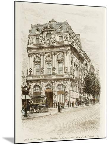 Boulevard Saint-Martin: Théâtres de la Renaissance et de la Porte Saint Martin-Adolphe Martial-Potémont-Mounted Giclee Print