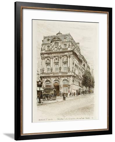 Boulevard Saint-Martin: Théâtres de la Renaissance et de la Porte Saint Martin-Adolphe Martial-Potémont-Framed Art Print