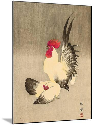 Rooster and Hen-Bairei Kono-Mounted Giclee Print