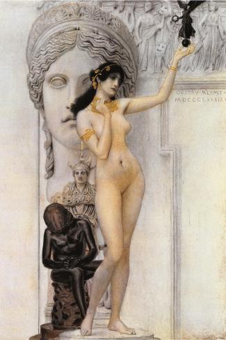 Allegory of Sculpture-Gustav Klimt-Stretched Canvas Print