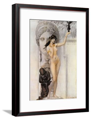 Allegory of Sculpture-Gustav Klimt-Framed Art Print