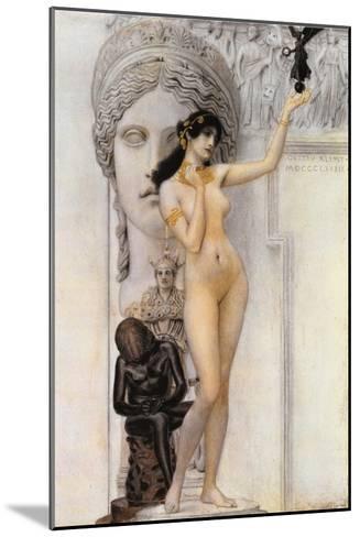 Allegory of Sculpture-Gustav Klimt-Mounted Giclee Print
