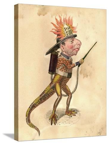 Salamander 1873 'Missing Links' Parade Costume Design-Charles Briton-Stretched Canvas Print