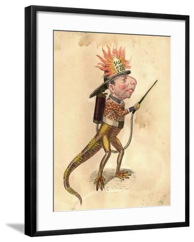 Salamander 1873 'Missing Links' Parade Costume Design-Charles Briton-Framed Art Print