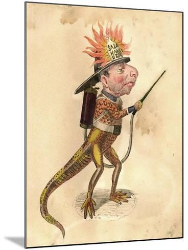 Salamander 1873 'Missing Links' Parade Costume Design-Charles Briton-Mounted Giclee Print