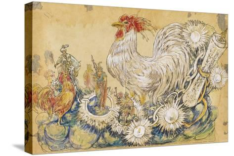 The Cock 1910 New Orleans Float Designs-Jennie Wilde-Stretched Canvas Print