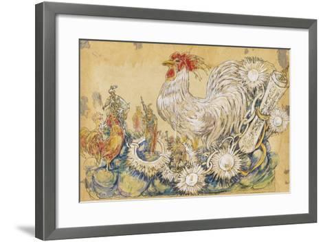 The Cock 1910 New Orleans Float Designs-Jennie Wilde-Framed Art Print