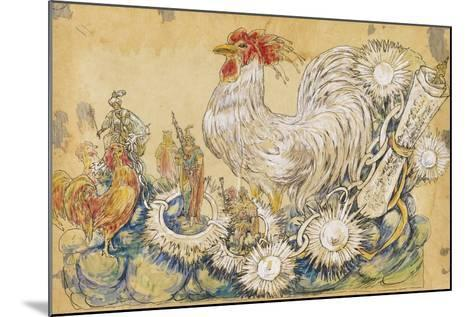 The Cock 1910 New Orleans Float Designs-Jennie Wilde-Mounted Giclee Print