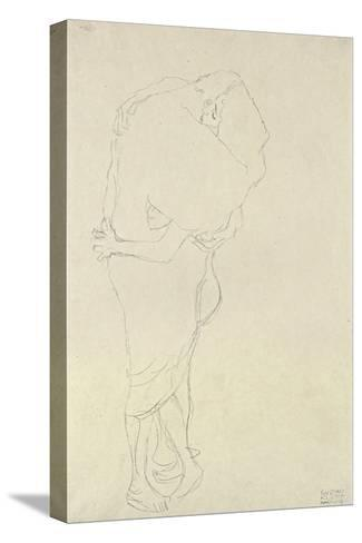 Standing Pair of Lovers-Gustav Klimt-Stretched Canvas Print