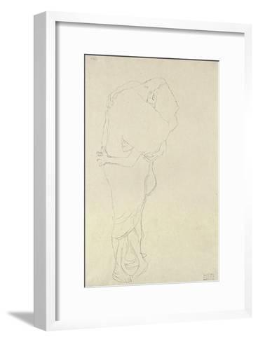 Standing Pair of Lovers-Gustav Klimt-Framed Art Print