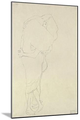 Standing Pair of Lovers-Gustav Klimt-Mounted Giclee Print