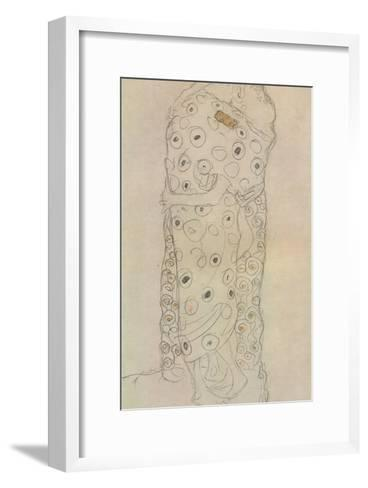 Standing Pair of Lovers 2-Gustav Klimt-Framed Art Print