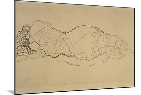 Reclining Woman, Seen from Behind-Gustav Klimt-Mounted Giclee Print