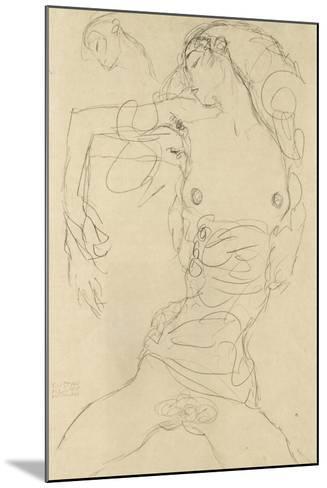 Female Nude with Bent Arm-Gustav Klimt-Mounted Giclee Print