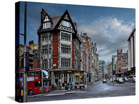 Pizza Hut Kensington, London-Anna Siena-Stretched Canvas Print