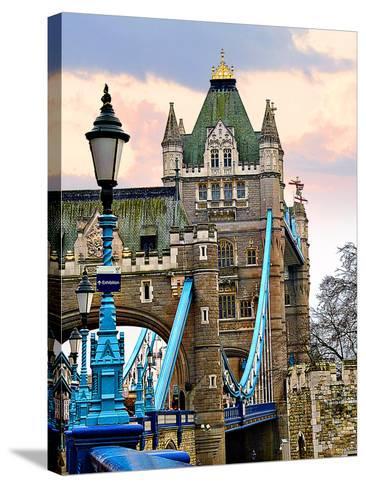 Tower Bridge-Anna Siena-Stretched Canvas Print