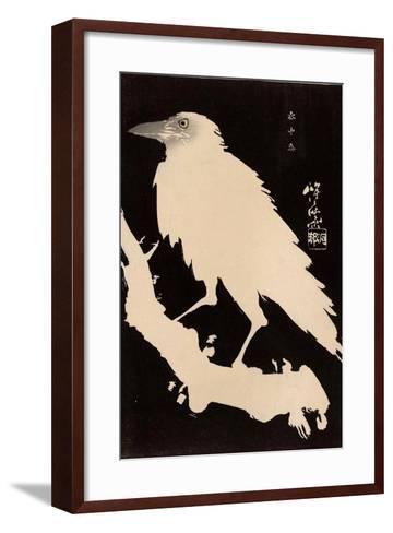 Crow in the Snow-Kyosai Kawanabe-Framed Art Print